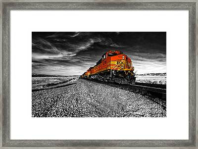 Power Of The Santa Fe  Framed Print by Rob Hawkins