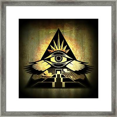 Power Pyramid Framed Print by Milton Thompson