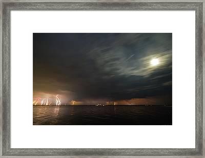 Power Shower Framed Print by Matt Molloy