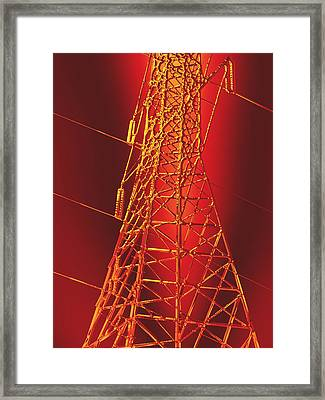 Power Station - Hot Optimized For Metallic Paper Framed Print by Wendy J St Christopher
