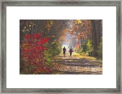 Power Walkers Framed Print by Michele Steffey