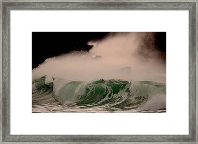 Power Wave Framed Print by Barbara Walsh