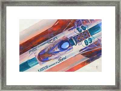 Powered By Ford Framed Print by Robert Hooper