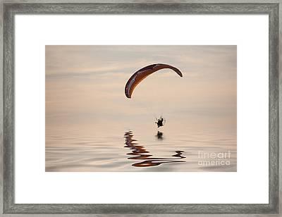 Powered Paraglider Framed Print by John Edwards