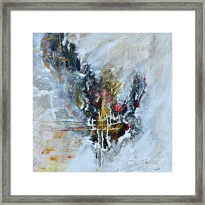 Powerful - Abstract Art Framed Print by Ismeta Gruenwald