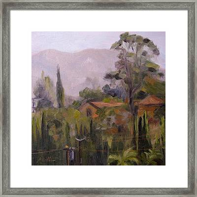 Powerline Checkpoint Framed Print by Athena Mantle