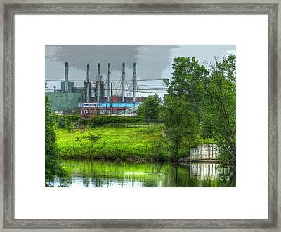 Powertrain Framed Print by MJ Olsen
