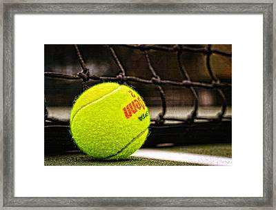 Practice - Tennis Ball By William Patrick And Sharon Cummings Framed Print by Sharon Cummings