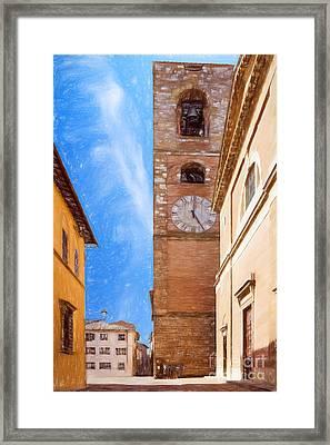 Praetorian Palace Colle Di Val D'elsa Framed Print by Ezeepics