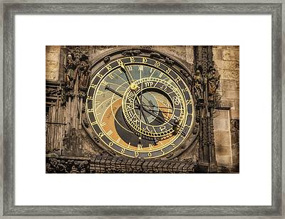 Prague Astronomical Clock Framed Print by Joan Carroll