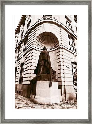 Prague Caped Crusader Framed Print by John Rizzuto