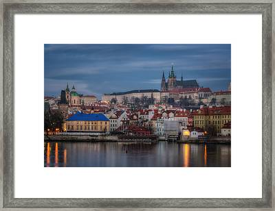 Prague Castle Dawn Framed Print by Joan Carroll