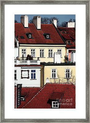 Prague Houses Framed Print by John Rizzuto