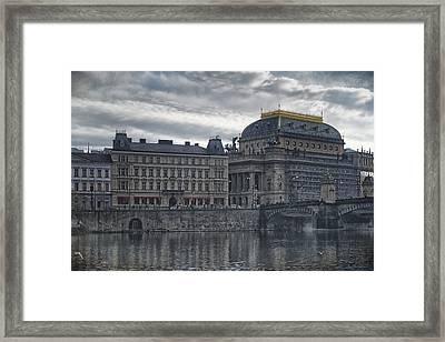 Prague National Theatre Framed Print by Joan Carroll