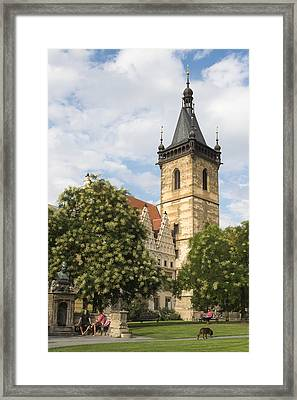 Prague New Town Hall Framed Print by Matthias Hauser