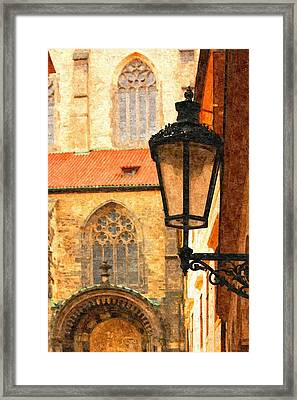 Prague - Old Town Framed Print by Ludek Sagi Lukac