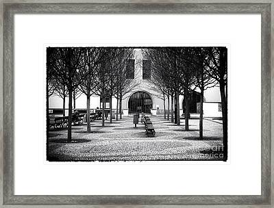 Prague Park Benches Framed Print by John Rizzuto