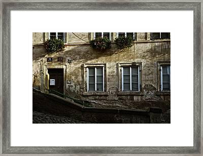 Prague Textures Framed Print by Joan Carroll
