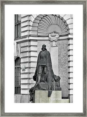 Prague - The Iron Man From A Long Time Ago And A Country Far Far Away Framed Print by Christine Till