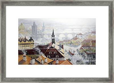 Praha Early Spring  Framed Print by Yuriy Shevchuk