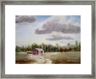 Prairie Barn 2 Framed Print by Mohamed Hirji