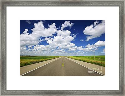 Prairie Highway Framed Print by Elena Elisseeva