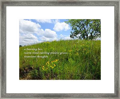Prairie Hike Framed Print by Scott Kingery