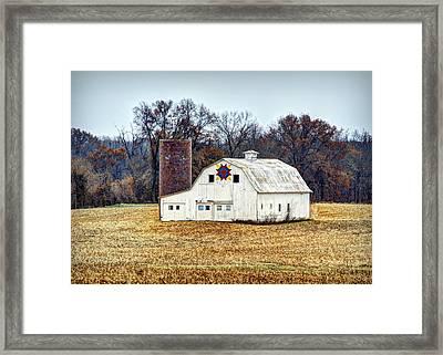 Prairie Queen Quilt Barn Framed Print by Cricket Hackmann