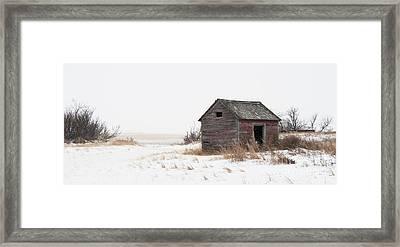 Prairie Silence... Framed Print by Nina Stavlund