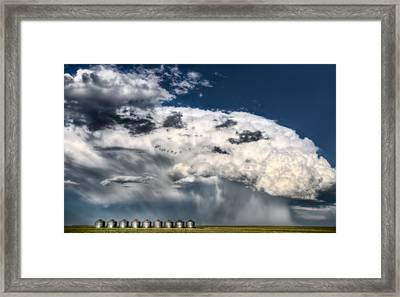 Prairie Storm Clouds Framed Print by Mark Duffy