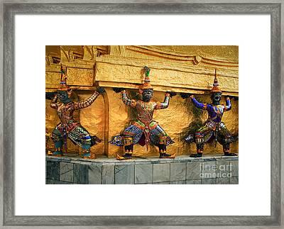 Prasatphradhepbidorn Golden Wall Framed Print by Inge Johnsson