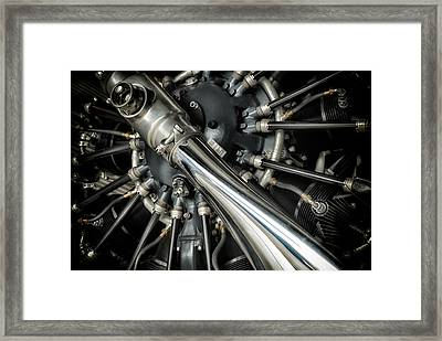 Pratt And Whitney Wasp C 9-cylinder Radial Engines Framed Print by Todd and candice Dailey