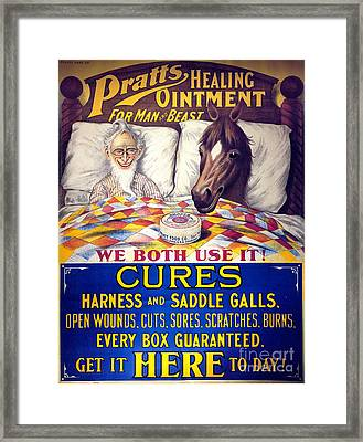 Pratts Healing Ointment Framed Print by Science Source