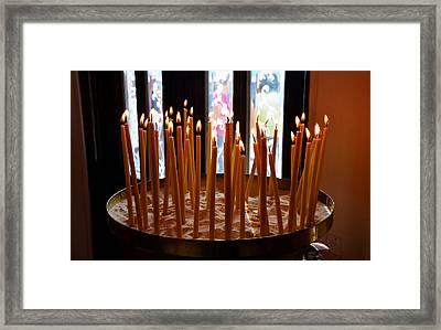 Prayer Candles Framed Print by David Lee Thompson