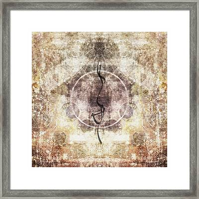 Prayer Flag 26 Framed Print by Carol Leigh
