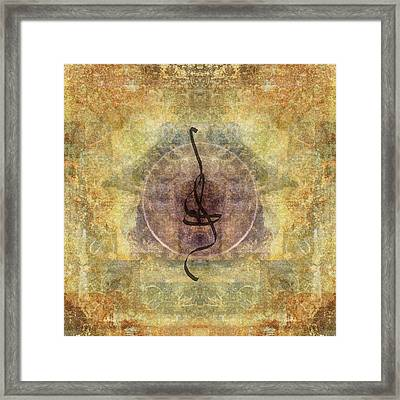 Prayer Flag 28 Framed Print by Carol Leigh