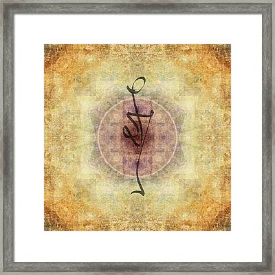Prayer Flag 38 Framed Print by Carol Leigh