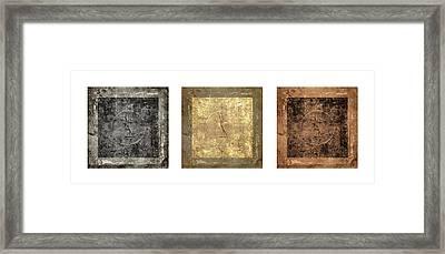 Prayer Flag Triptych Series Two Framed Print by Carol Leigh