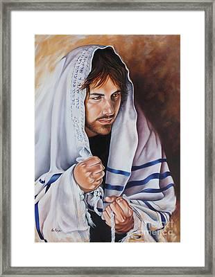 Prayer For Israel Framed Print by Ilse Kleyn