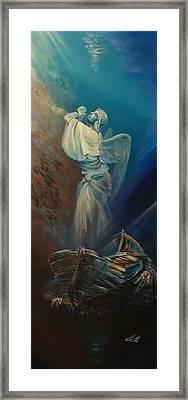 Prayer For The Seas Framed Print by Ottilia Zakany