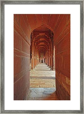 Prayer Hall, Dargah (jama Masjid Framed Print by Adam Jones