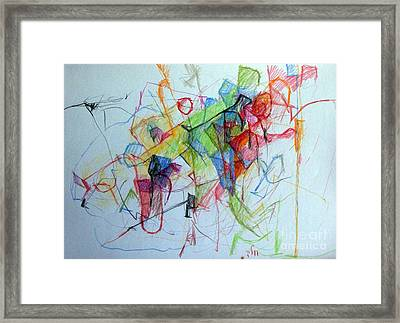Prayer Not To Waste A Moment 3 Framed Print by David Baruch Wolk