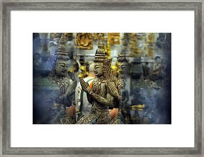 Prayer Reflection Framed Print by Money Sharma