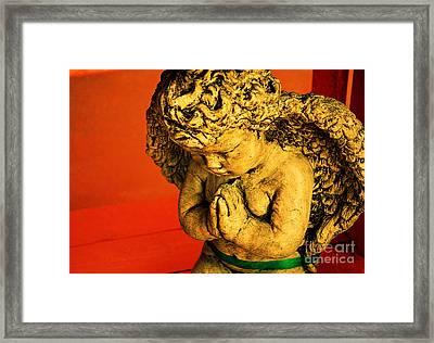 Praying Angel Framed Print by Susanne Van Hulst