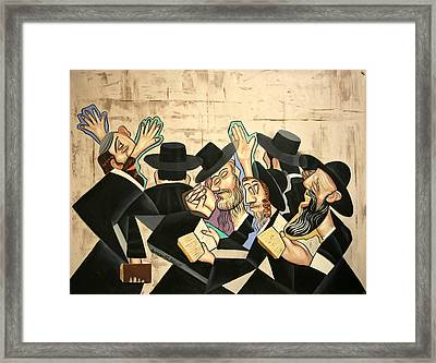 Praying Rabbis Framed Print by Anthony Falbo