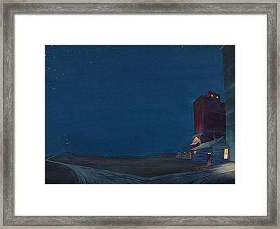 Pre-dawn On The Hi Line IIi Framed Print by Scott Kirby