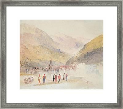 Pre St Didier, 1836 Framed Print by Joseph Mallord William Turner
