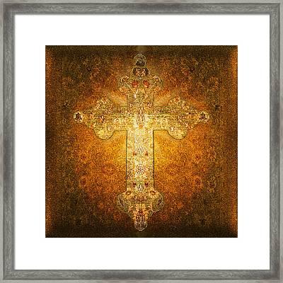 Precious Holy Cross Framed Print by Li   van Saathoff