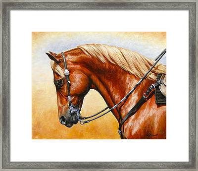 Precision - Horse Painting Framed Print by Crista Forest