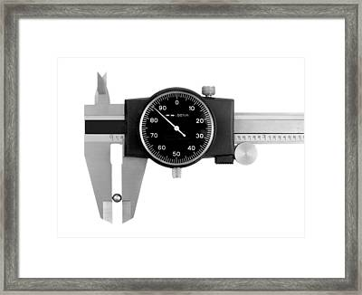 Precision Measurement Framed Print by Jim Hughes
